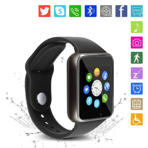 A1 Bluetooth Smart Watch Compatible IOS IPhone Android-Black