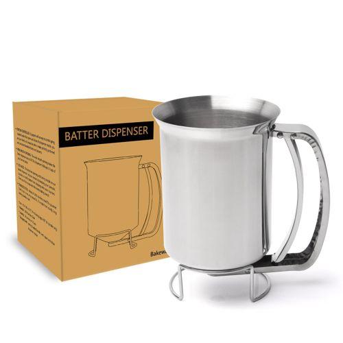 Handheld Batter Dispenser Stainless Steel Cup Cake Pancake-