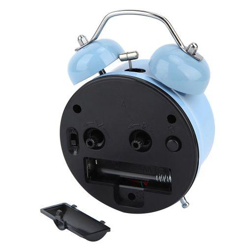 Alarm Clock Korean Style Mechanical Light Night Light Manual Clock Double Bell Clock For Bedroom Time Management Heavy Thresholds