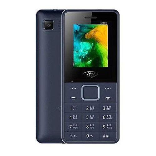 2160 Wireless FM, Bright Torch, Call Recorder, Dual SIM Mobile - Dark Blue