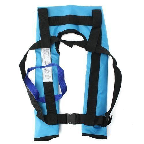 Adult Automatic Inflatable Life Jacket Vest Survival Sailing Boating Floatation Blue
