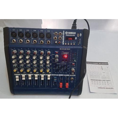 PMX602D USB Bluetooth Mmc/sd Card 6 Channel Professional Live Studio Audio Mixing Powered Mixer Console Yamaha ( Inbuilt Amplifier)