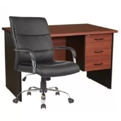 Executive Office Desk + Leather Chair
