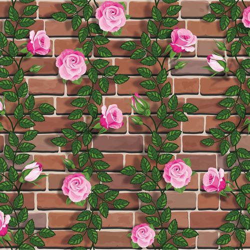Technologg Home Decor 3D Wall Paper Brick Stone Rustic Effect Self-adhesive Wall Sticker Home Decor -Multi