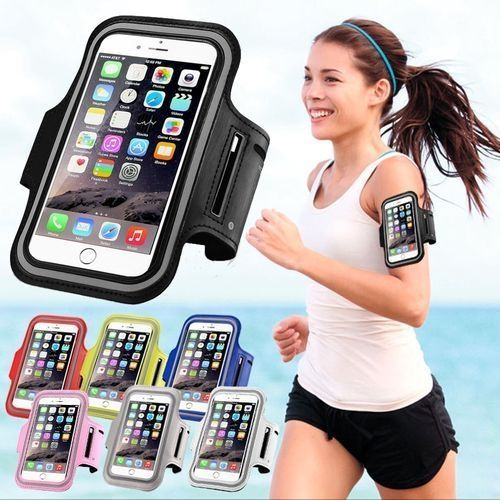 Iphone 5 5S 5C Water Resistant Cell Phone ArmbandOutdoor Running CellPhone Sweatproof Case With Key Holder And Card Pouch(Purple)