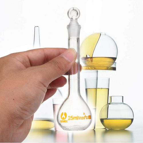 25ML Chemistry Glass Volumetric Flask Borosilicate Lab Glassware W/Stopper