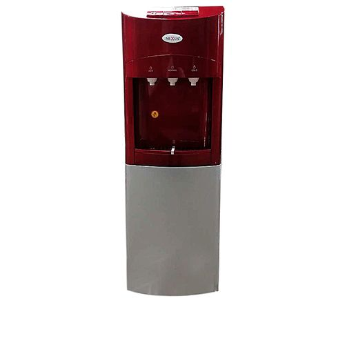3 Tap Water Dispenser With Fridge - Red
