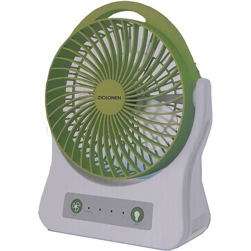 3 Speed Rechargeable 7.5inch Fan With 4SMD Lighting