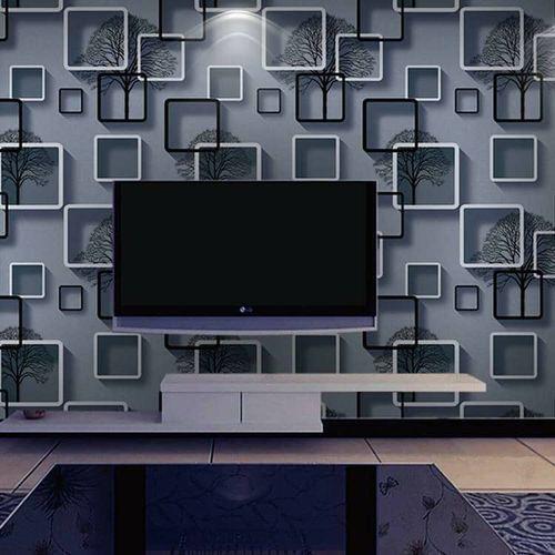 Grey Cedar 3D Effect Wallpaper - 5.3 SQM (Each Roll)