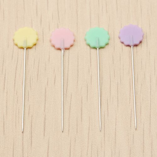 100pcs Sewing Patchwork Pins Flower Button Head Pins DIY Sewing Needle Tool
