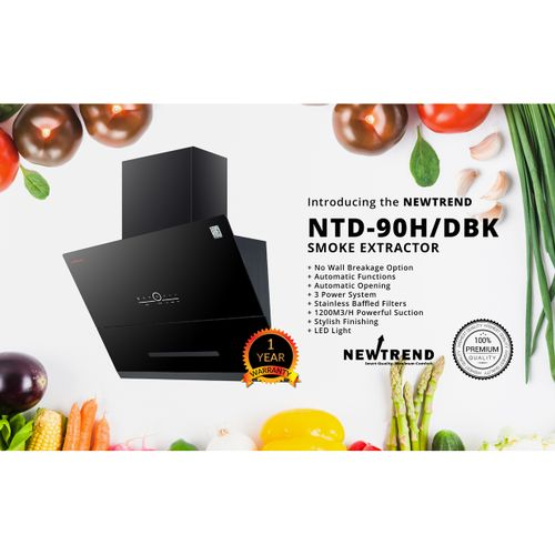 NTD-90H/DBK Auto-range Hood/smoke Extractor/cooker Hood (3 Power System)