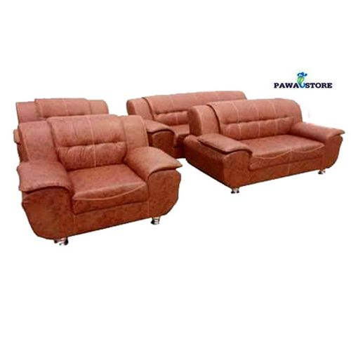 PAWA FURNITURE INNOVATION (SIX) 'SUMO LIGHT BROWN LEATHER ' 7 SEATER. 'ORDER NOW AND GET A FREE OTTOMAN' (Delivery To Lagos Only)