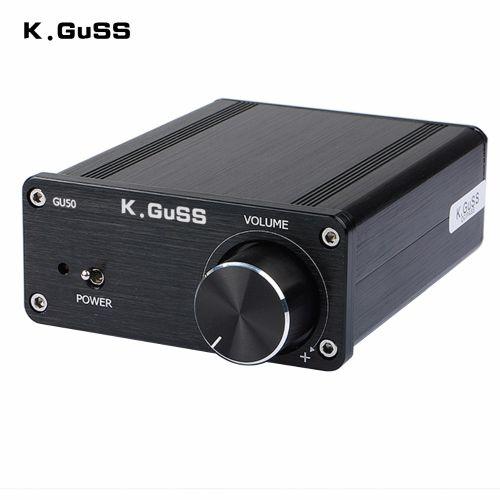 K.GuSS GU50 TPA3116 Amplifier 2017 New Hi-Fi 2.0 Class-D Mini Borne Audio Power Amplifier 2*50w DC12V DC24V