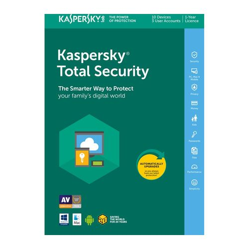 Total Security 2018 10 PCs 1 Year Windows Mac Android & IOS