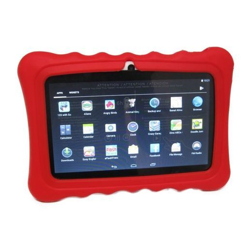 "A32 7"" KIDS LEARNING TABLET 7 INCH, ANDROID 6.1, 8GB, WI-FI, QUAD CORE, DUAL CAMERA + Red Pouch"