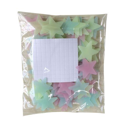 Romantic Noctilucent Star Shape Sticker Festivel