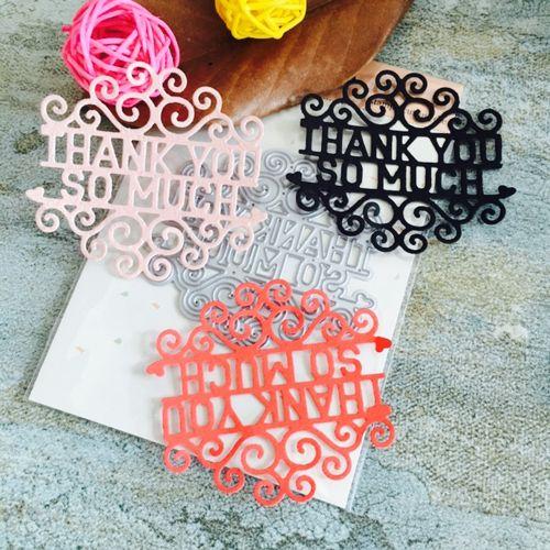 Watermalend Metal Cutting Dies Stencils For DIY Scrapbooking Photo Album Paper Card Gift