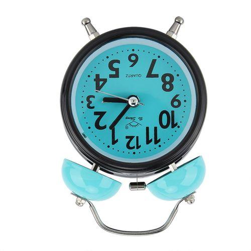 Alarm Clock Vintage Plastic Blue Light Night Luminous Multiple Sound Cartoon Design Twin Bell For Bedroom Heavy Sleepers