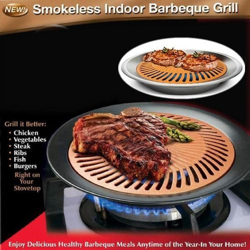 Non Stick Smokeless Barbeque Stove Top Grill