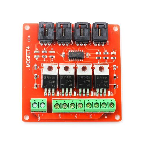 TA 4-way Switch IRF540 Isolated Power Module For Arduino-red