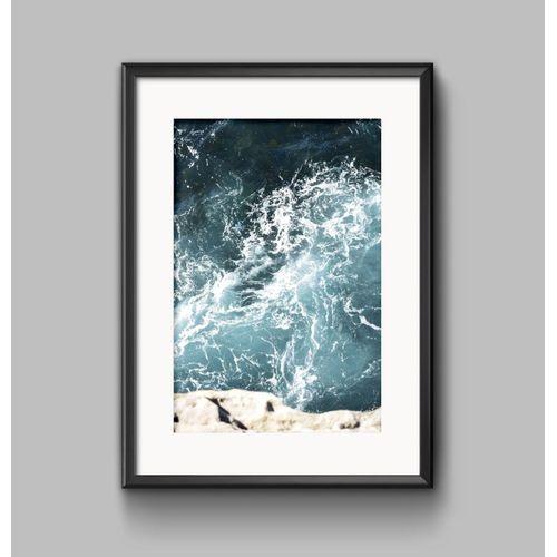 Modern Sea Life Canvas Print Painting Ocean World Art Poster Home Wall Decor -20*30cm