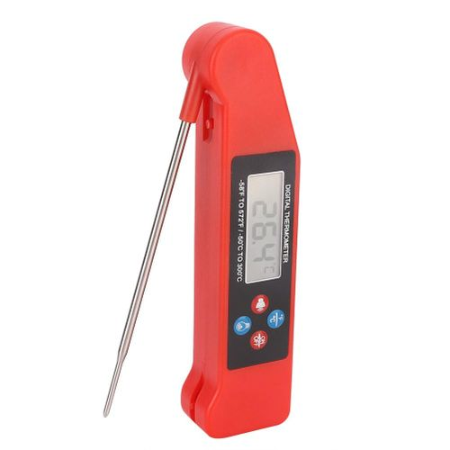 Folding Voice Digital Display BBQ Grill Meat Thermometer Kitchen Cooking Food Thermometer