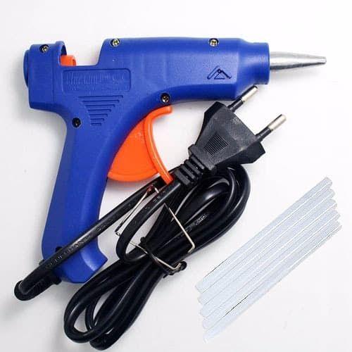Electric 20W Hot Melt Art Craft Glue Gun With 50Pcs Free Mini Clear Glue Sticks
