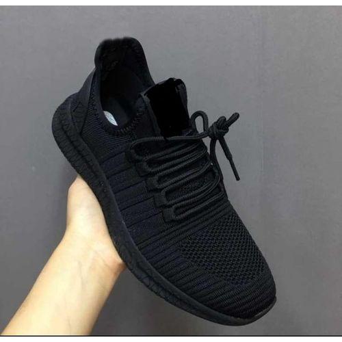 Fashionanle Unisex Sneakers-Black White