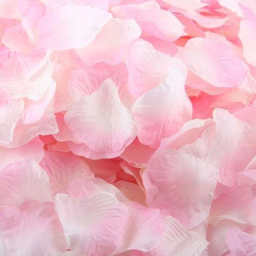 1000pcs Pink Silk Rose Artificial Petals Wedding Party Flower Favors Decor