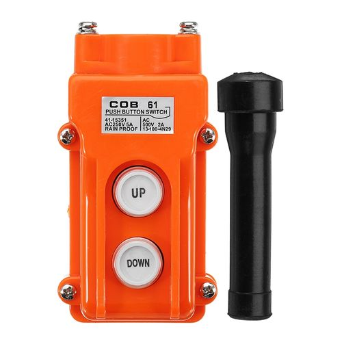 AC 250V 5A UP DOWN Button Switch Crane Handheld Button Box Driving Button Switch