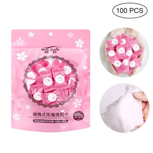 Portable Compression Face Towel Cotton Washcloth For Travel