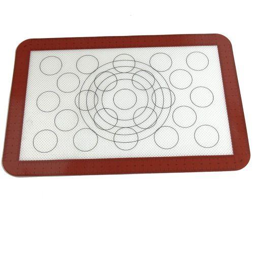 Non-Stick Macaron Silicone Baking Mat Non Stick Circle Macaroon Pad Sheet Transparent