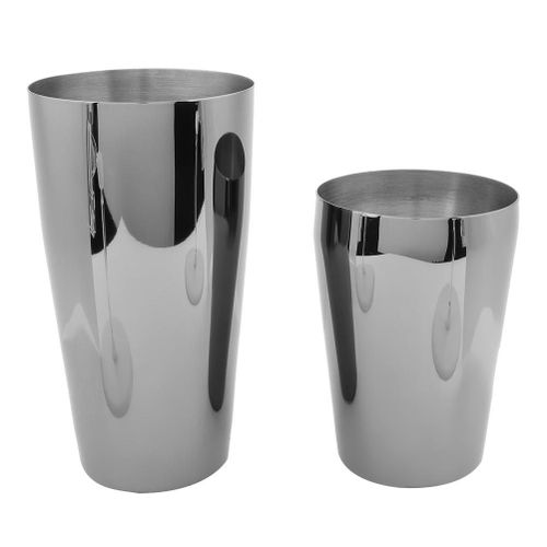 2 Piece Stainless Steel Boston Tail Shaker Cup Bar Mix Beverage Bartender Tools