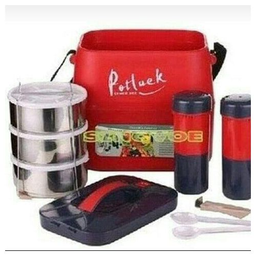 Potluck Food Dish /flask With Jug For Home And Office