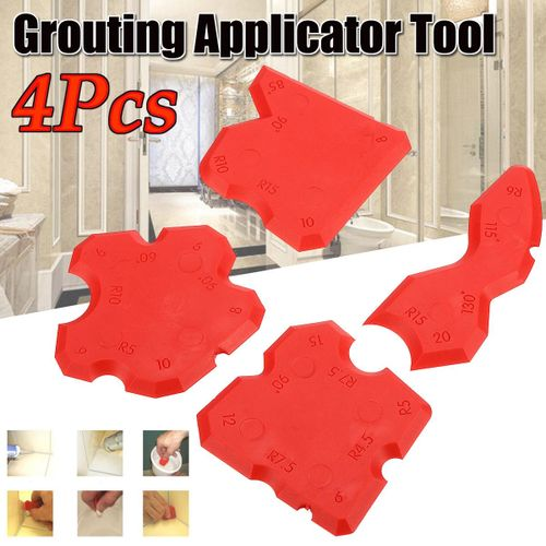 4pcs Silicone Sealant Spreader Profile Applicator Tile Grout Tool Home Help Gift
