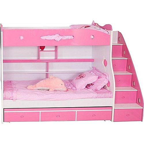 Pink Bunk Bed Frame For Chidren (Delivery Within LAGOS Only)