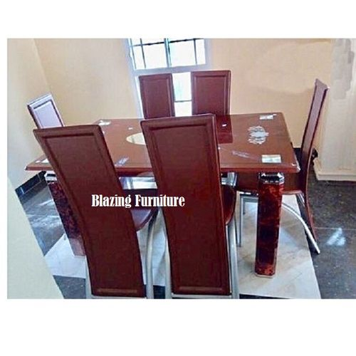 Glass Dinning With 6 Chairs (Lagos Delivery Only)