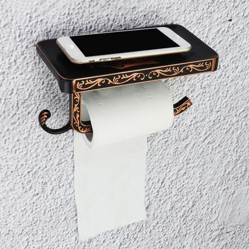 Vintage Retro Alloy Toilet Paper Towel Roll Holder Bathroom Wall Mount Rack Set