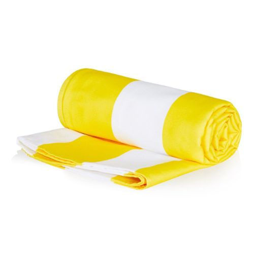 Quick-Drying Absorbent Beach Towel Seaside Diving Towel Striped Sand Yellow
