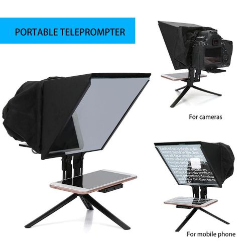 Smartphone Teleprompter Portable Teleprompter Compatibility With DSLR Cameras And 6.5-inch Mobile Phone Jacks For Outdoor Video Recordings.