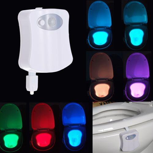 8 Colors LED Toilet Nightlight Motion Activated Light