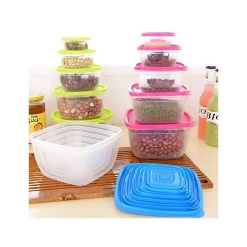 5-in-1 Sets Of Microwave Plastic Plates