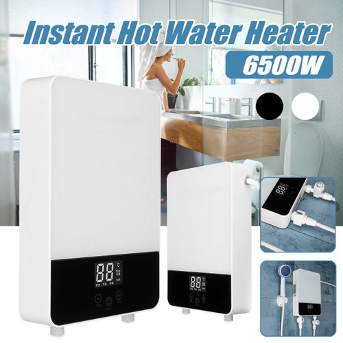 6500W Tankless Instant Electric Hot Water Heater Boiler Bathroom Shower Set