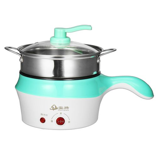 1.8L Double-Layer Stainless Steel Mini Electric Pot Pan