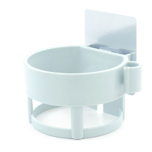 No Trace Pasted Hair Dryer Rack In Bathroom-Green