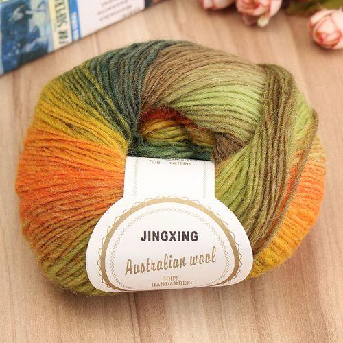 50g Soft Chunky Knitting Crochet Yarn 100% Fine Wool Ball Colorful Craft Yarn-04