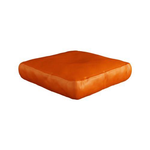Spikkle Square Bean Bag Leather Chair - Orange