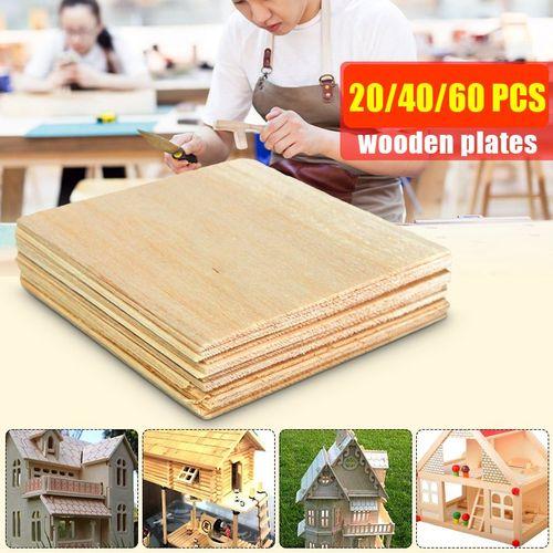 20pc Wooden Plate Model Balsa Wood Sheet