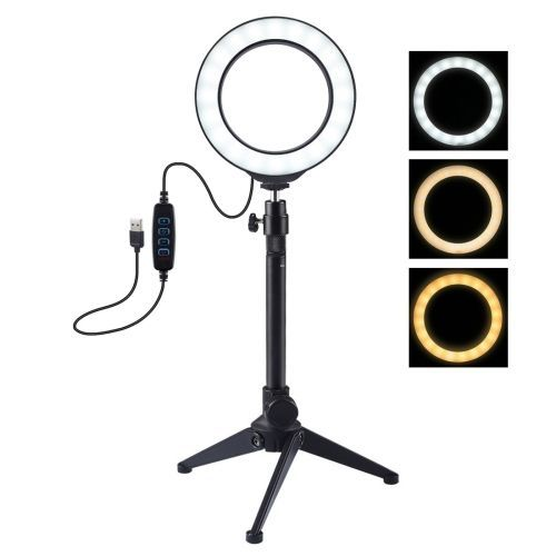 4.7 Inch LED Ring Vlogging Photography Video Lights + Tripod