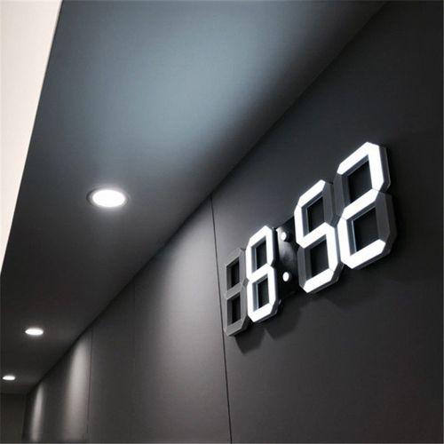 LED Digital Numbers Wall Clock With 3 Levels Brightness Alarm Clock Snooze Clock Desk Table Clocks